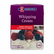 Whipping cream emborg
