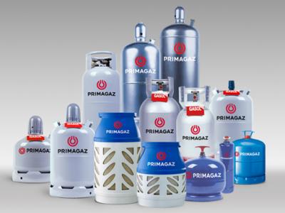Exempel på gasolflaskor