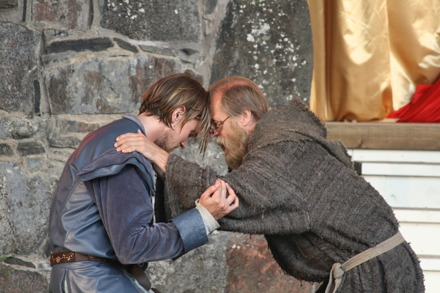 """From """"Romeo och Juliet"""" at Bohus Fortress 2014. Romeo and Brother Laurens"""