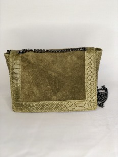 Joline Green Leather