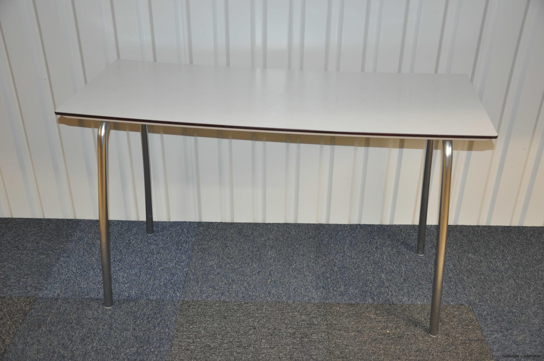 Hopfällbara bord, fällbara konferensbord, vit laminat 120 x 70 cm (3)