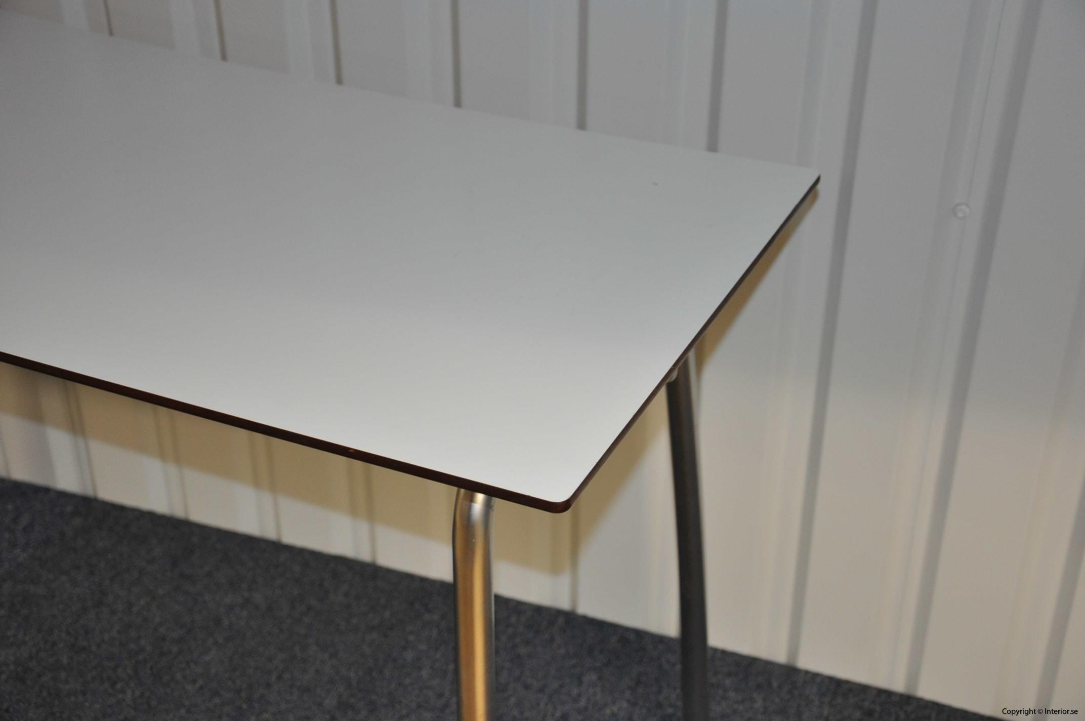Hopfällbara bord, fällbara konferensbord, vit laminat 120 x 70 cm (5)