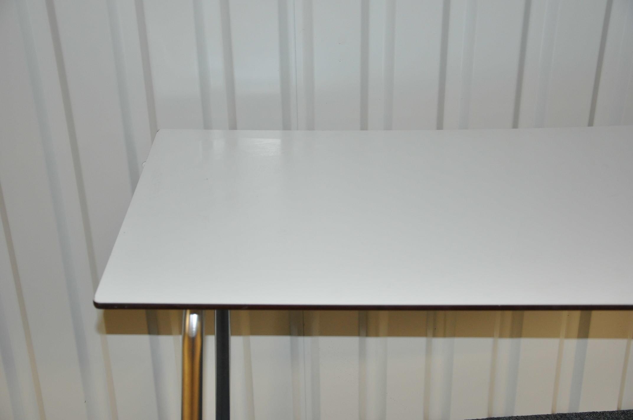 Hopfällbara bord, fällbara konferensbord, vit laminat 120 x 70 cm (4)