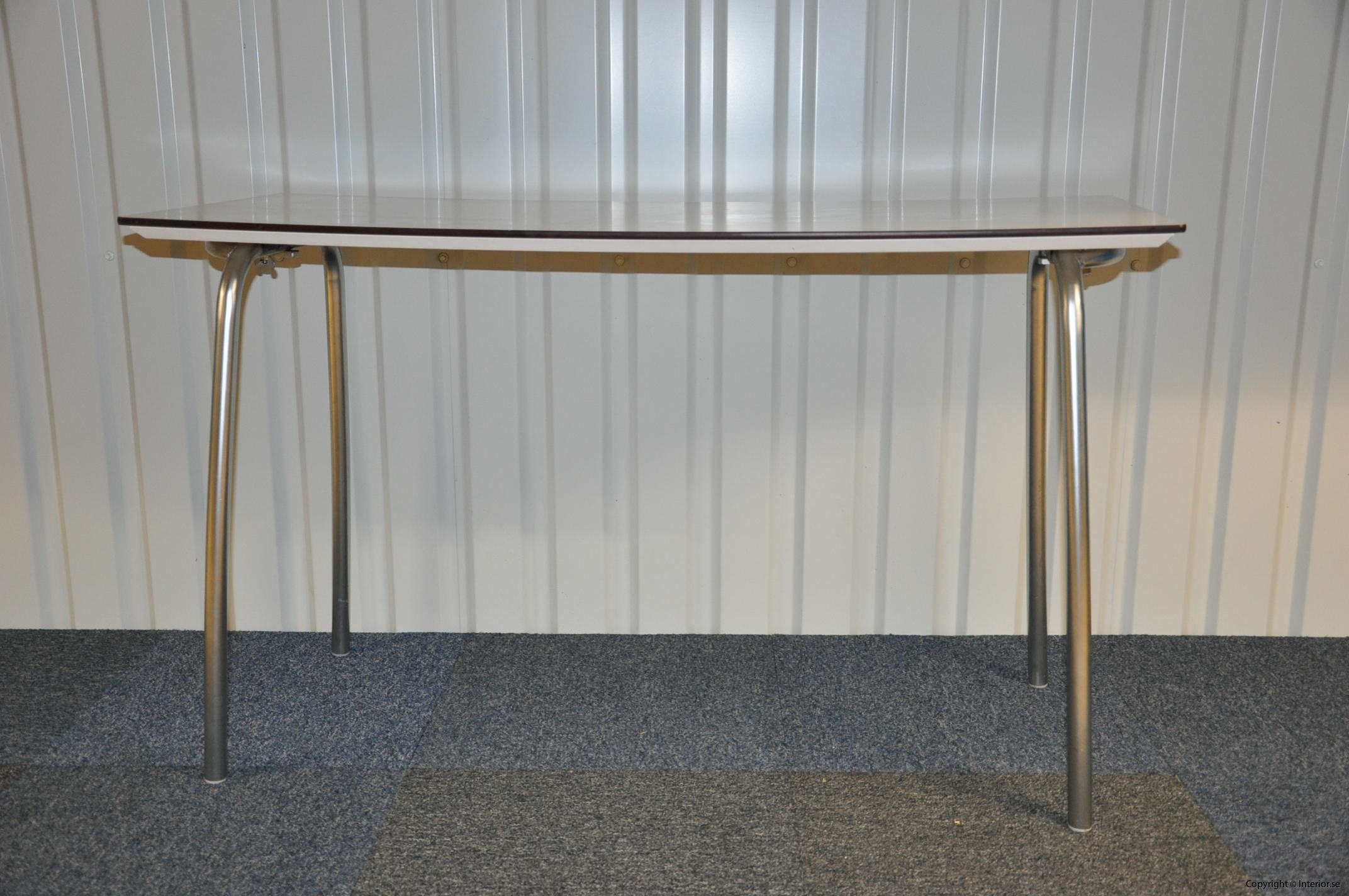 Hopfällbara bord, fällbara konferensbord, vit laminat 120 x 70 cm (2)