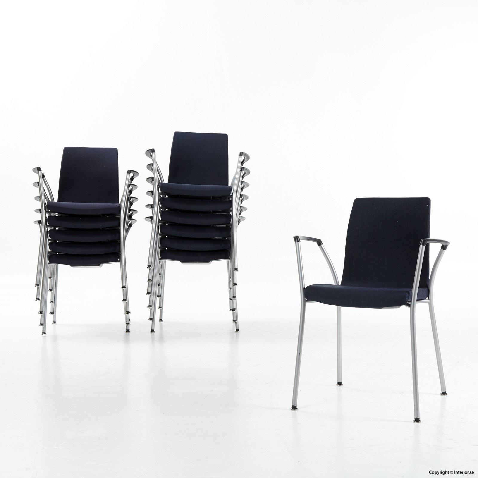 1 Konferensstol, Akaba Gorka - Mörkblå grå Konferensmöbler Konferensbord