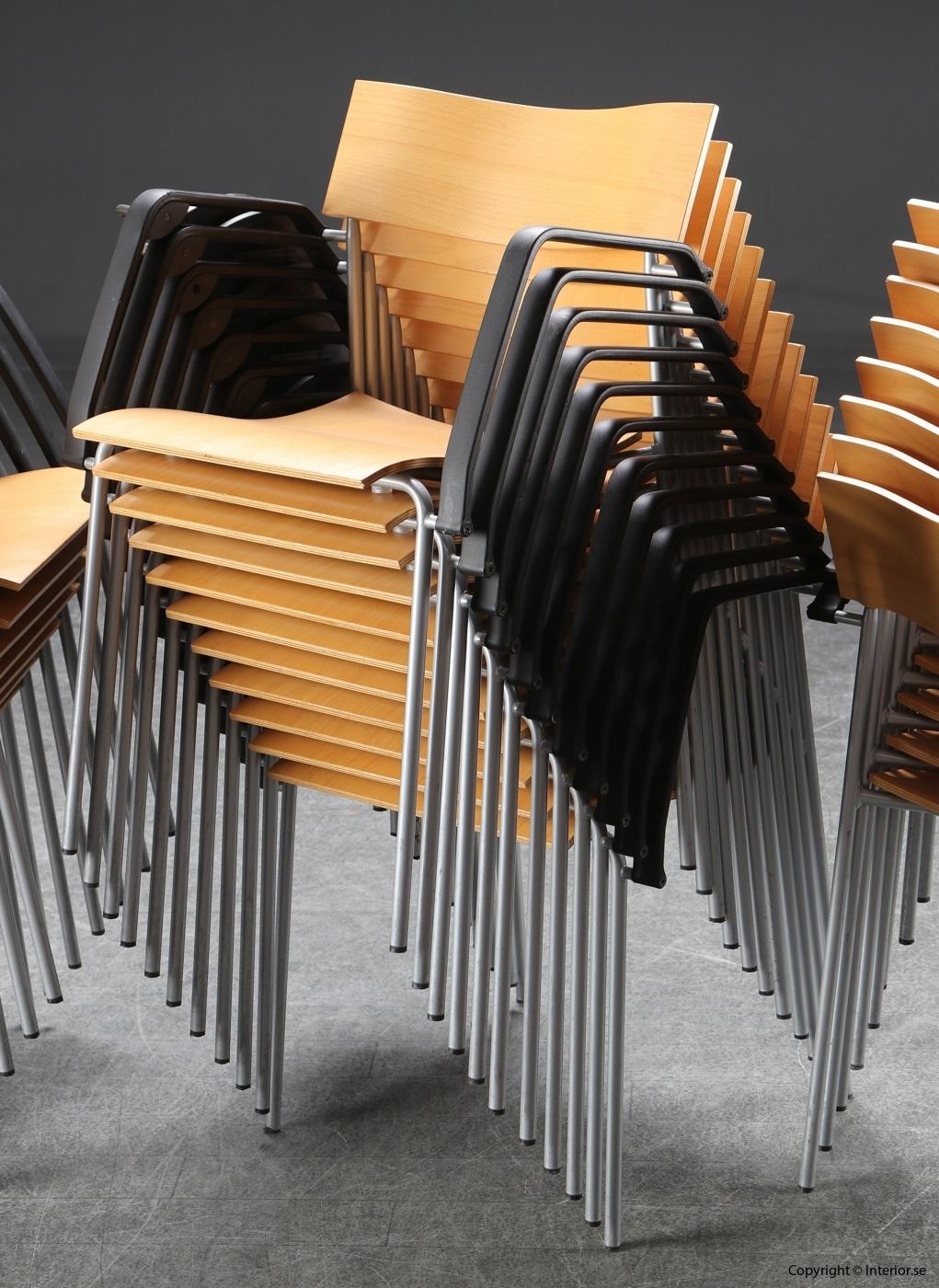 1 Stolar, Lammhults Campus med fällbar skrivplatta -Peter Hiort-Lorenzen (5)
