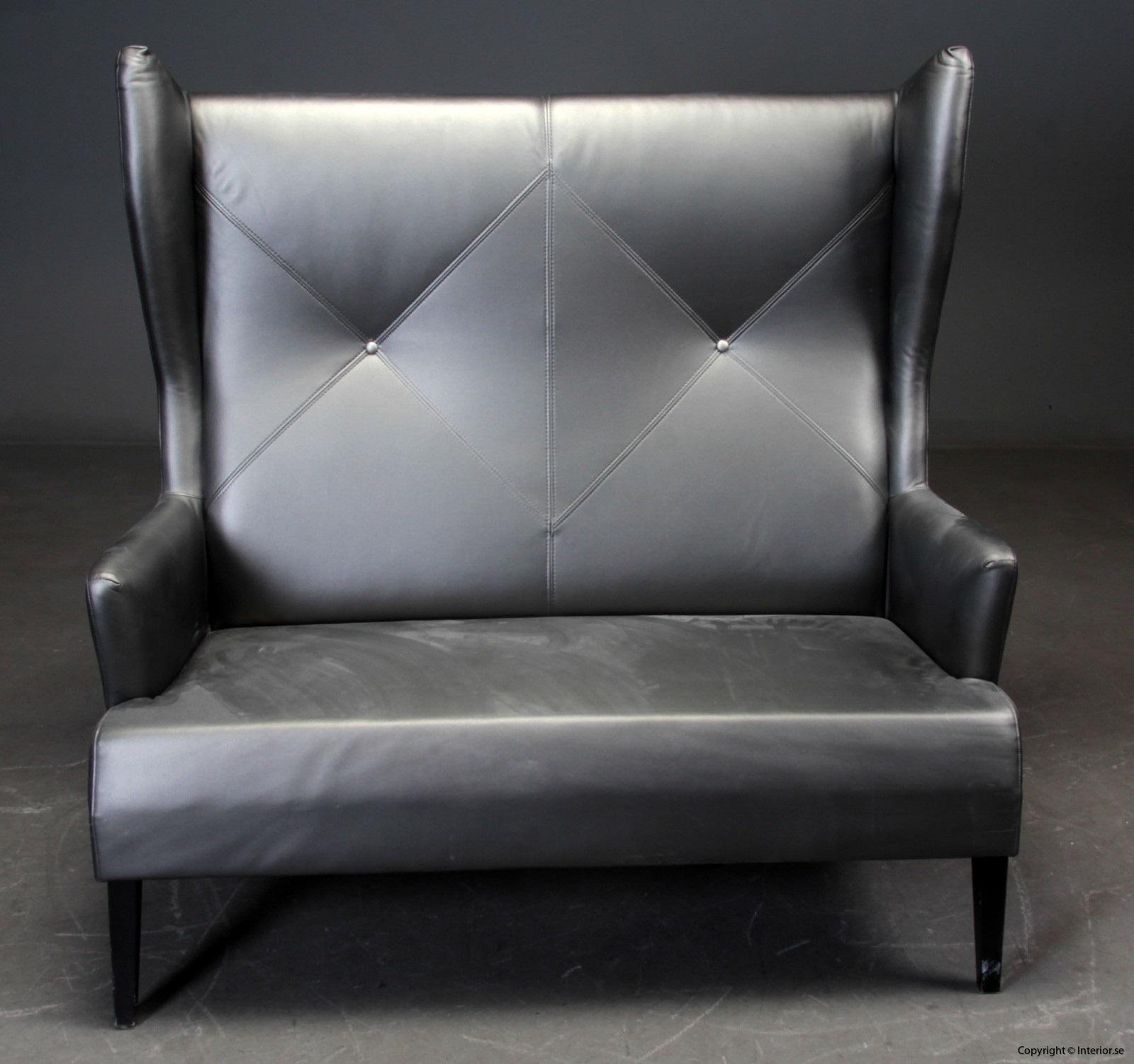 1 Soffa, Induflex - Hög rygg i konstläder 5