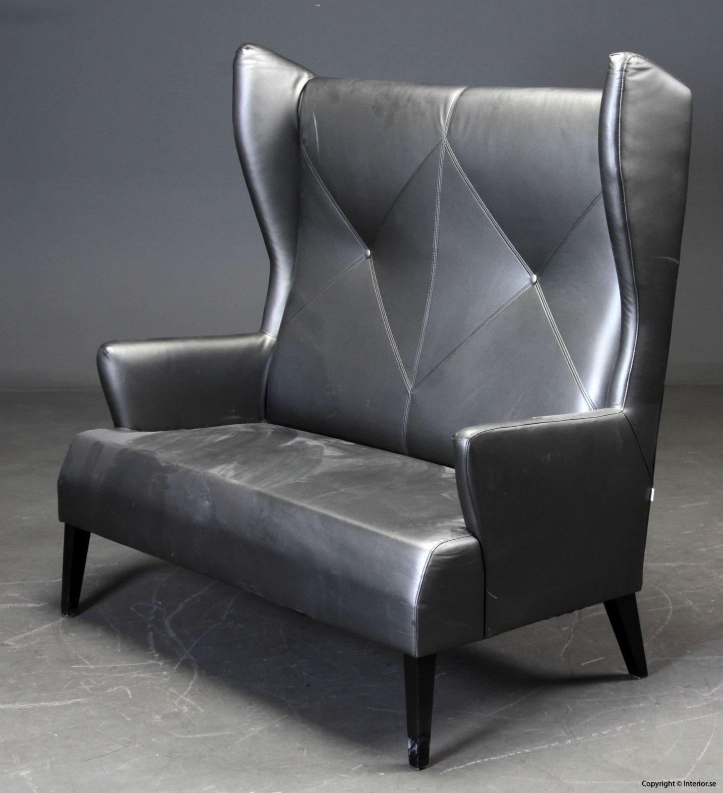 1 Soffa, Induflex - Hög rygg i konstläder 56