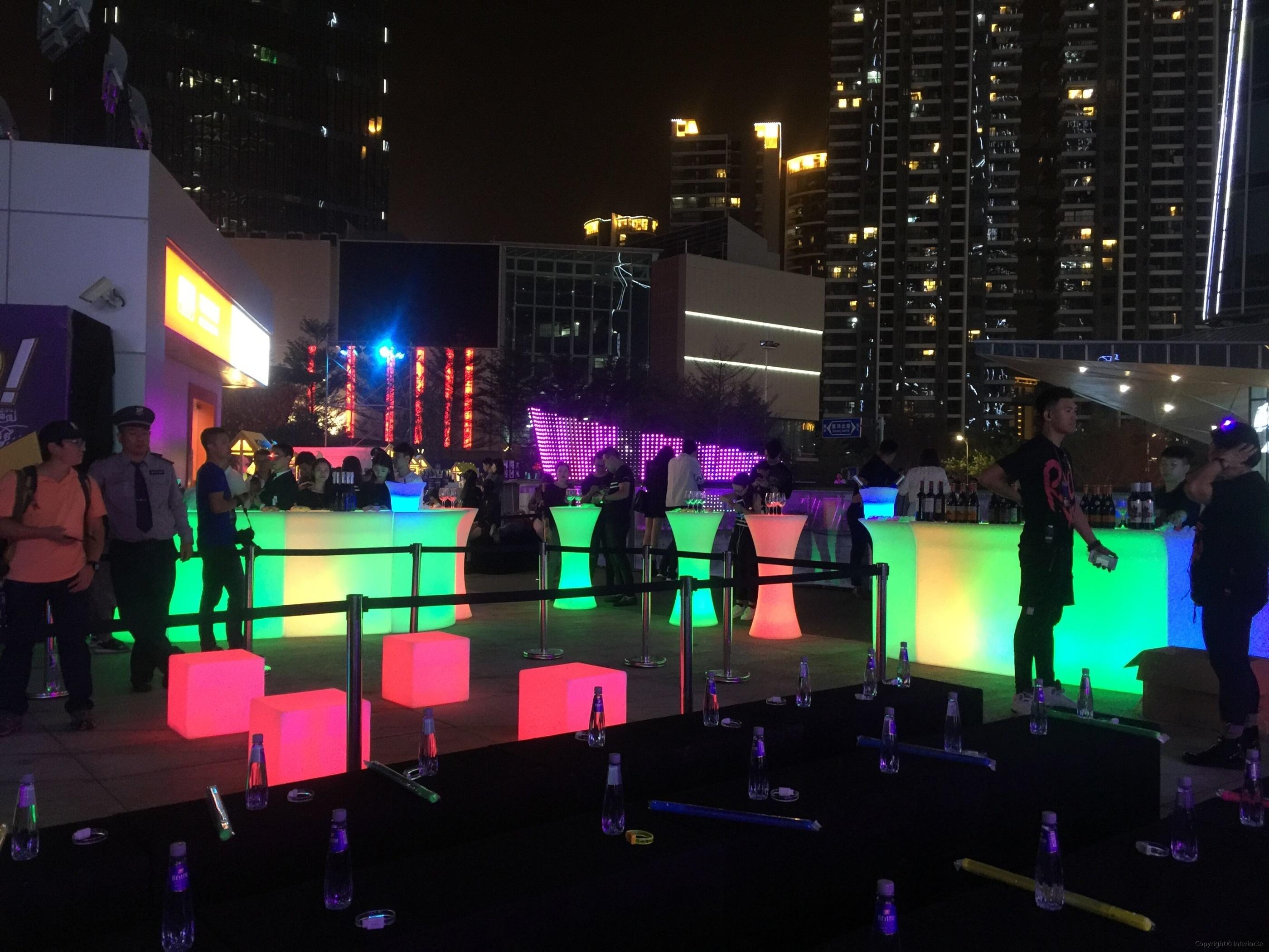 Hyra ståbordbarbord - RGB LED Uppladdsningsbar (2)