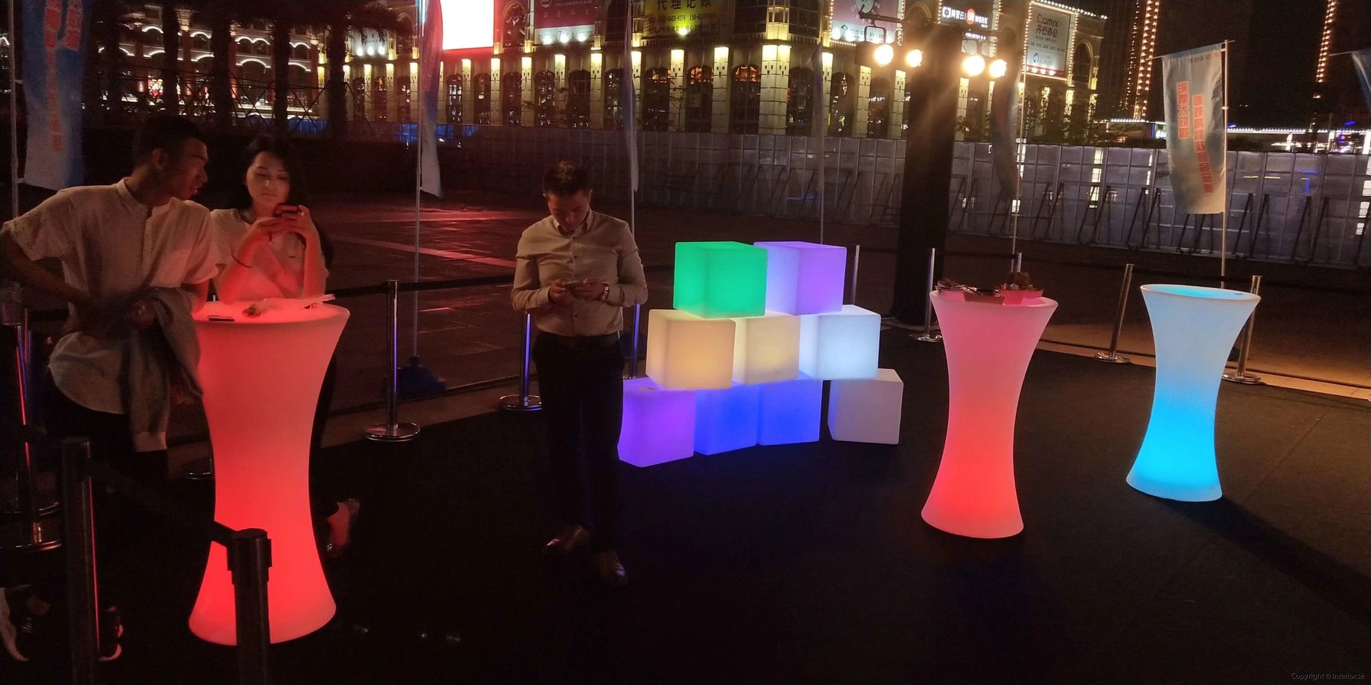Hyra ståbordbarbord - RGB LED Uppladdsningsbar