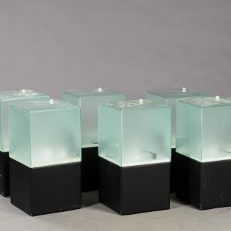 Ljuslådor m. frostat glas - RGB LED lampa + fjärrkontroll LightBox