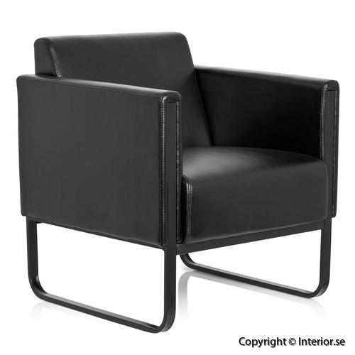 fåtölj invite konstläder svart loungemöbler (1)