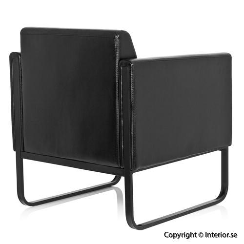 fåtölj invite konstläder svart loungemöbler (3)