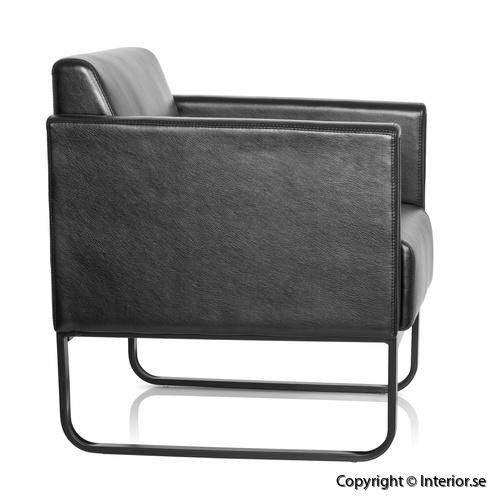 fåtölj invite konstläder svart loungemöbler (2)