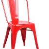 Industristolen Avant - Plåtstol i flera färger - Röd