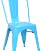Industristolen Avant - Plåtstol i flera färger - Ljusblå