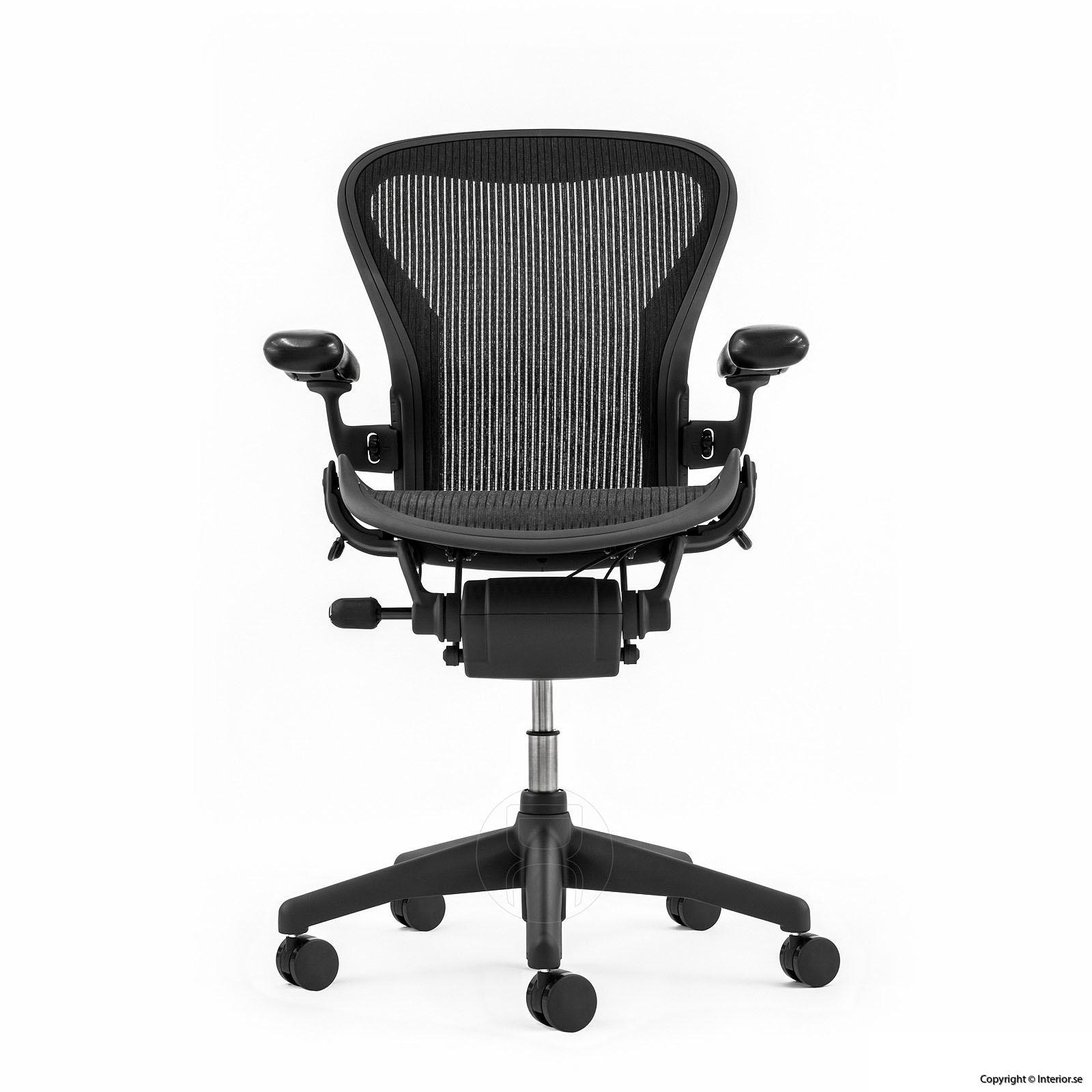utan billig lumbar pad svankstöd herman miller aeron a small b medium c large refurbished sverige europe kontorsstol begagnad