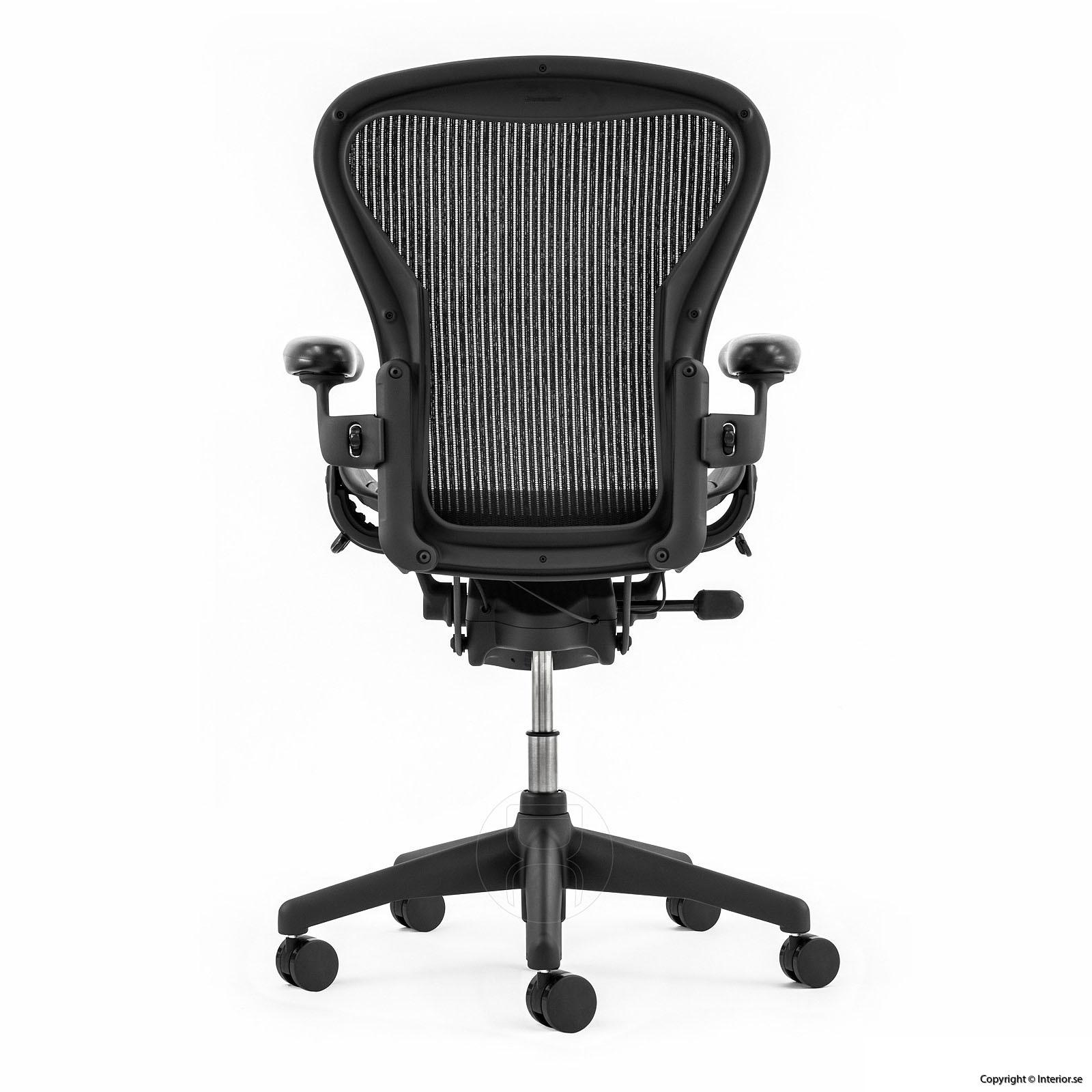 utan billig lumbar pad svankstöd herman miller aeron a small b medium c large refurbished sverige europe kontorsstol begagnad 4