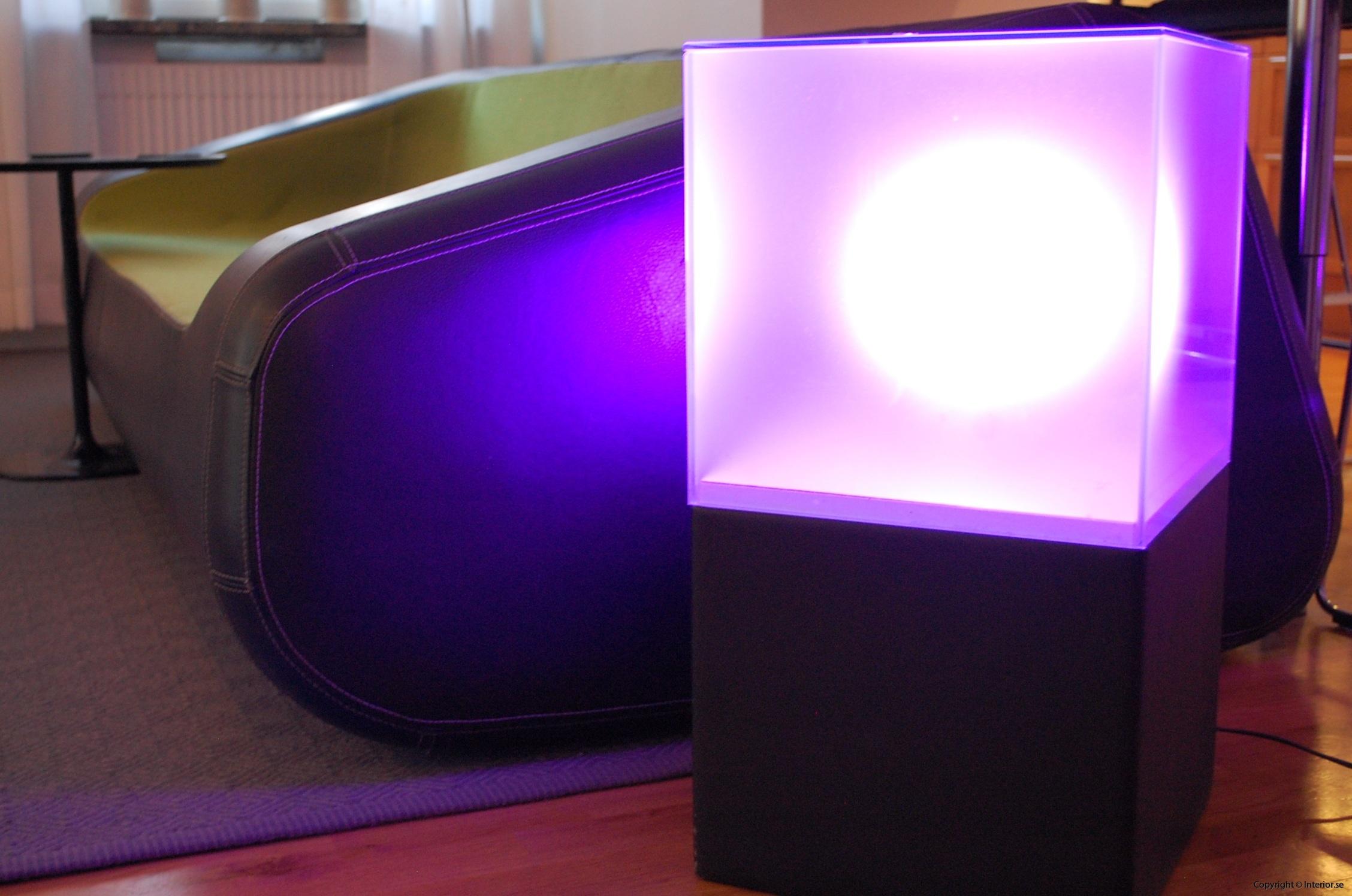 Ljuslådor m. frostat glas - RGB LED lampa + fjärrkontroll LightBox (8)