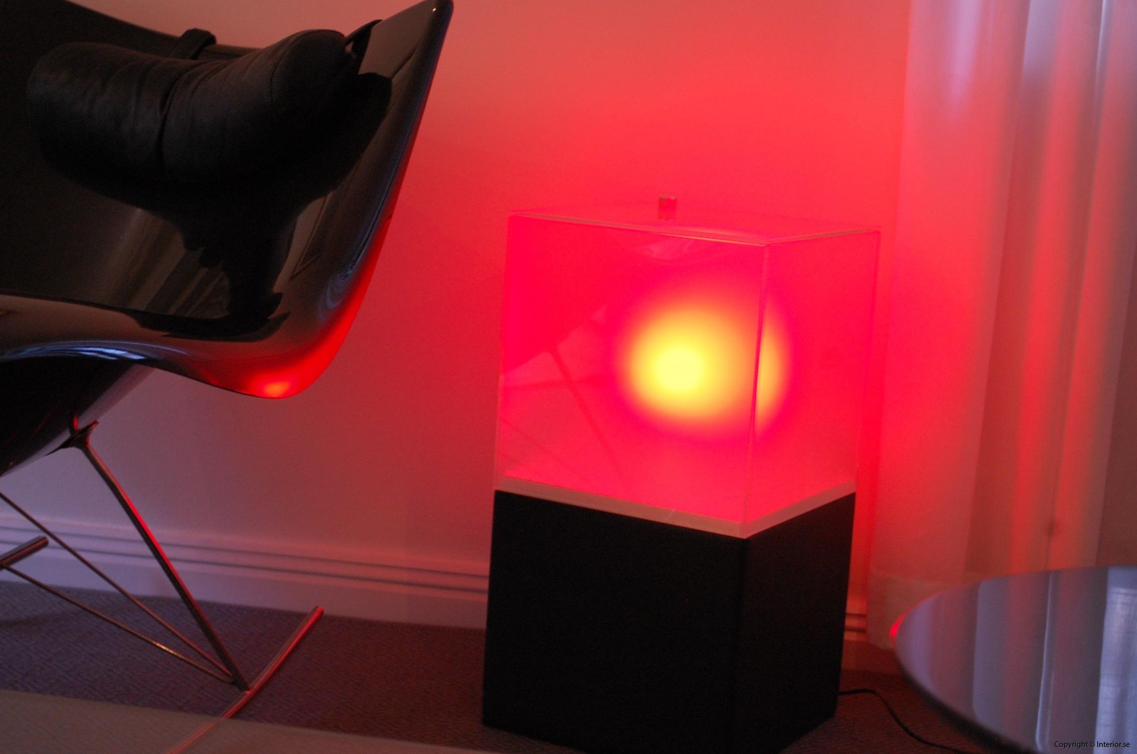 Ljuslådor m. frostat glas - RGB LED lampa + fjärrkontroll LightBox (4)