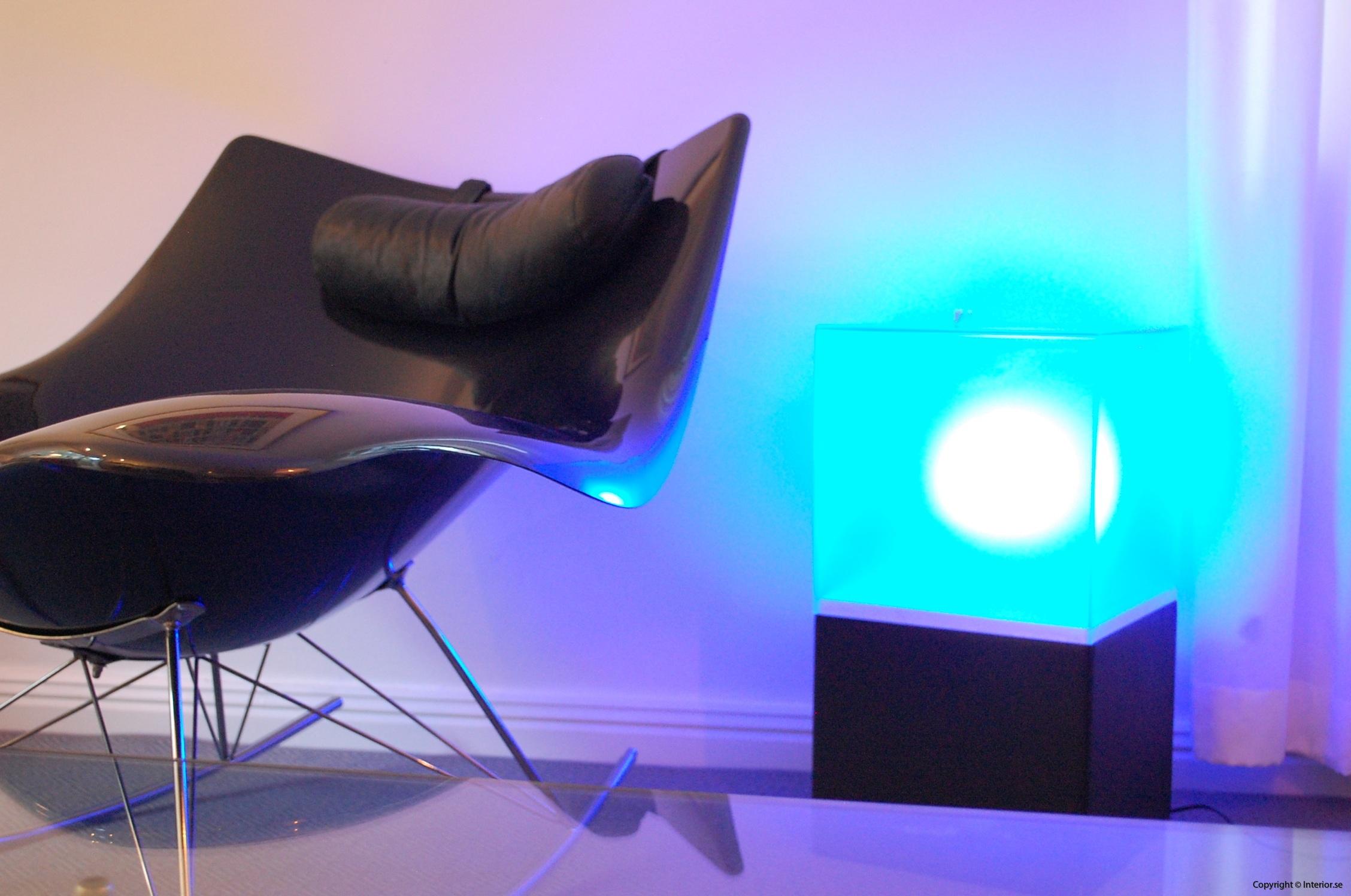 Ljuslådor m. frostat glas - RGB LED lampa + fjärrkontroll LightBox (2)