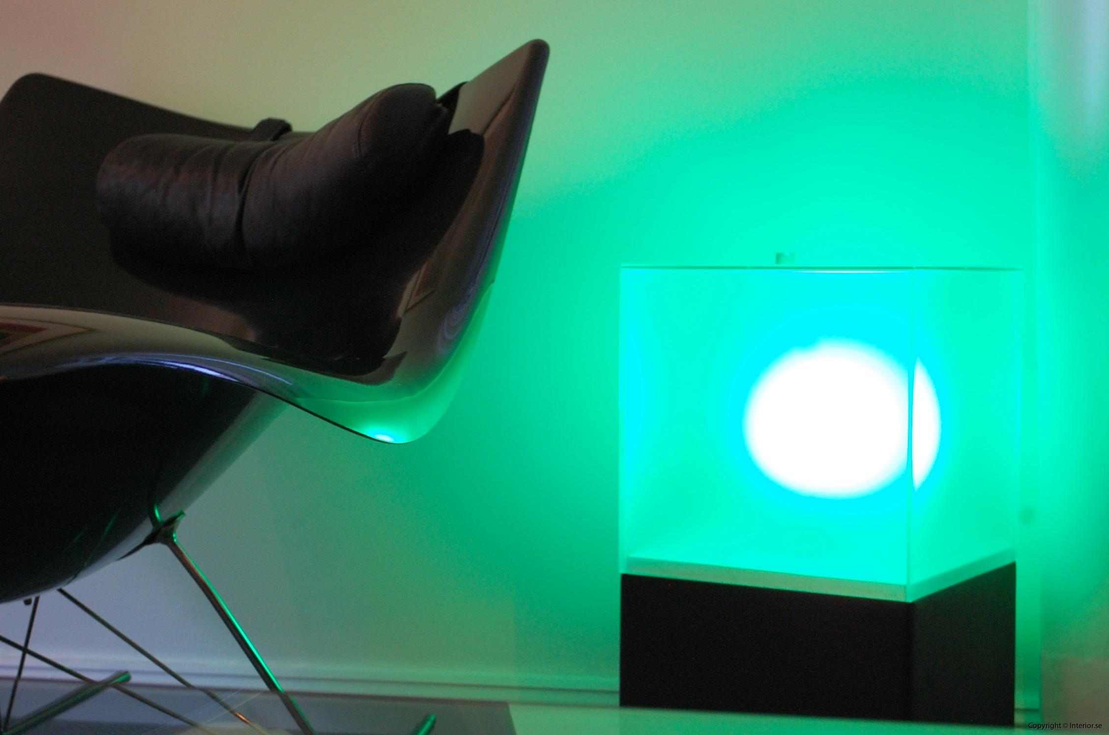 Ljuslådor m. frostat glas - RGB LED lampa + fjärrkontroll LightBox (5)