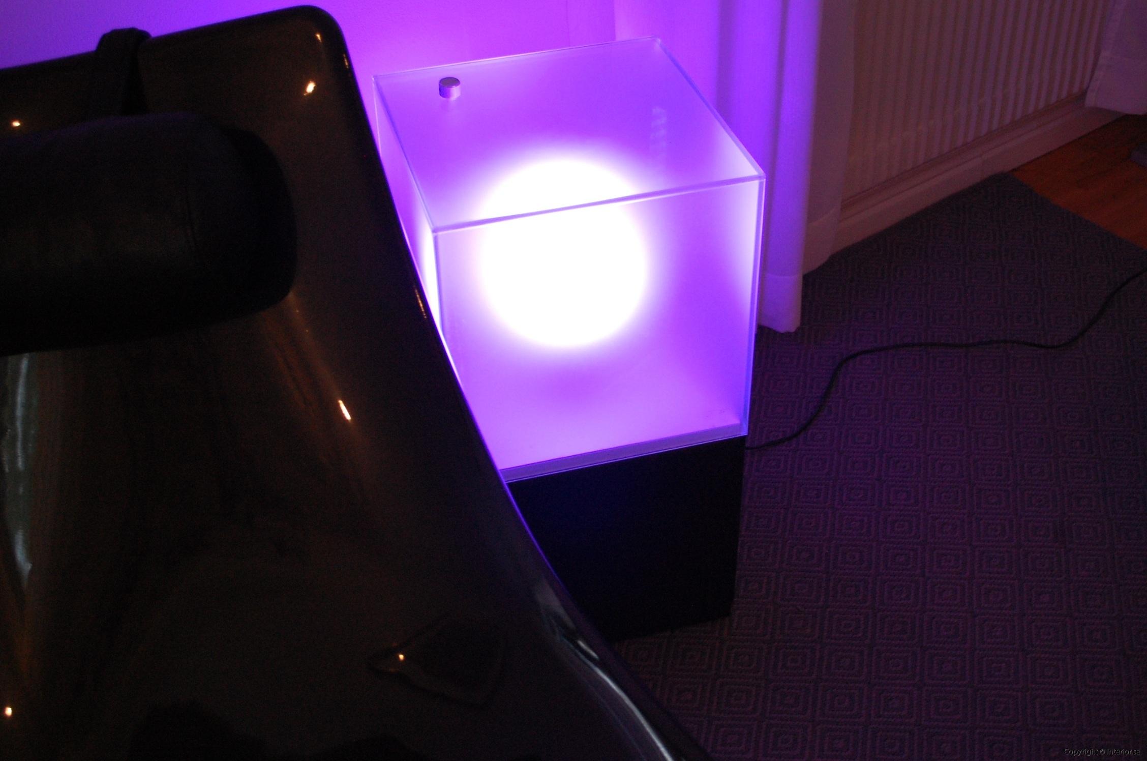 Ljuslådor m. frostat glas - RGB LED lampa + fjärrkontroll LightBox (6)