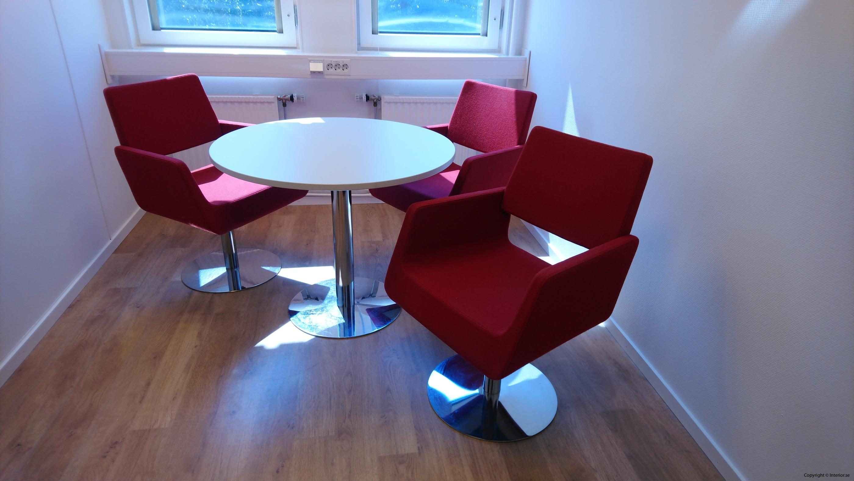Loungegrupp, SA Möbler materia - 3 fåtöljer + bord - Loungemöbler begagnade designmöbler (5)