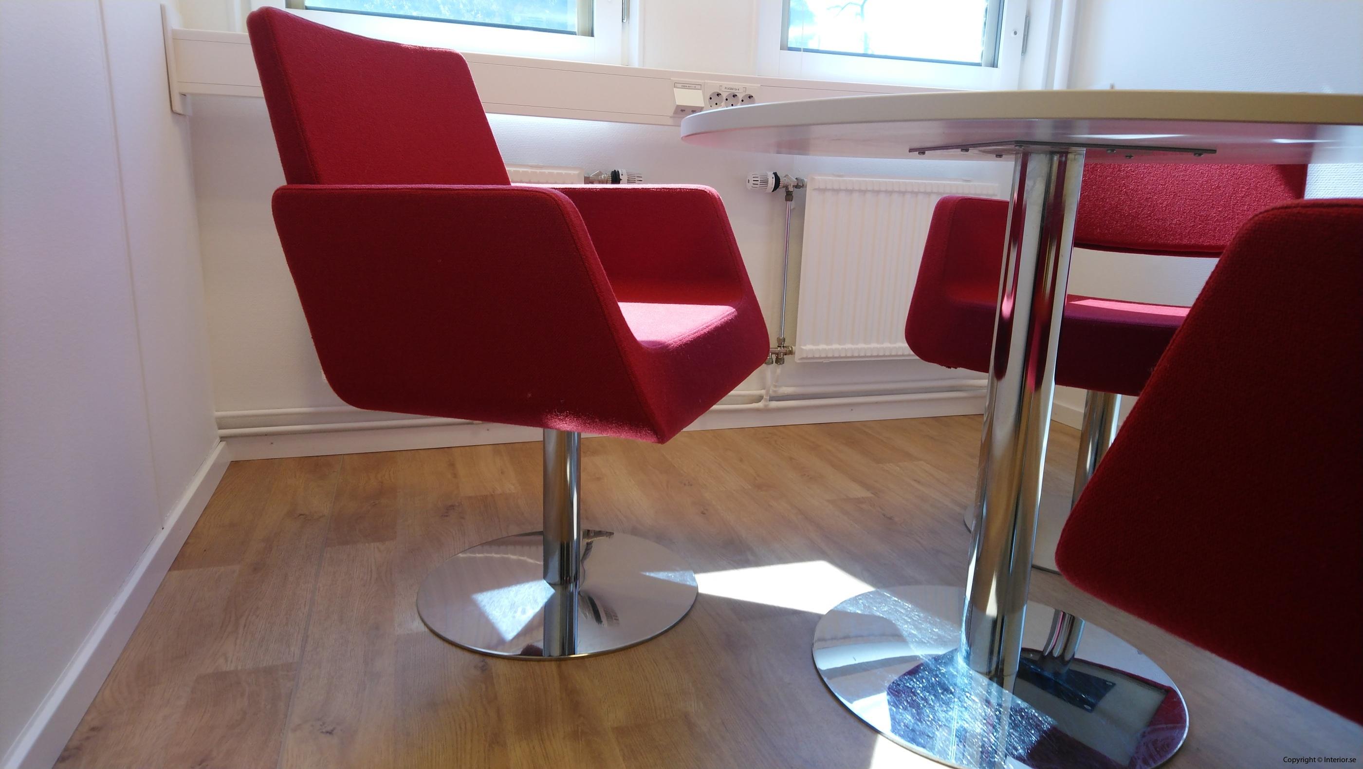 Loungegrupp, SA Möbler materia - 3 fåtöljer + bord - Loungemöbler begagnade designmöbler (2)