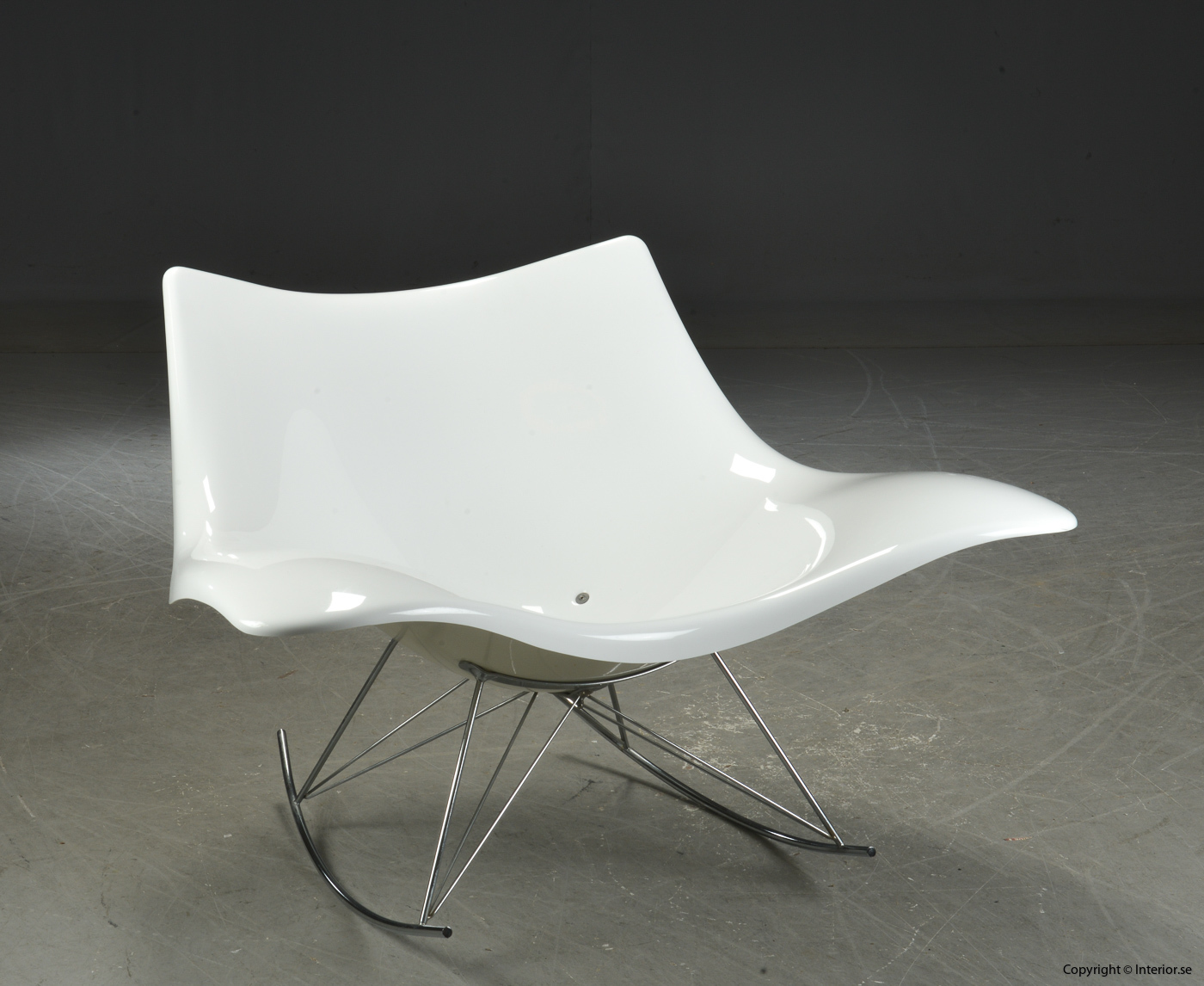 Gungstol rocking chair Schaukelstuhl, Vit Stingray Fredericia Furniture - Design Thomas Pedersen