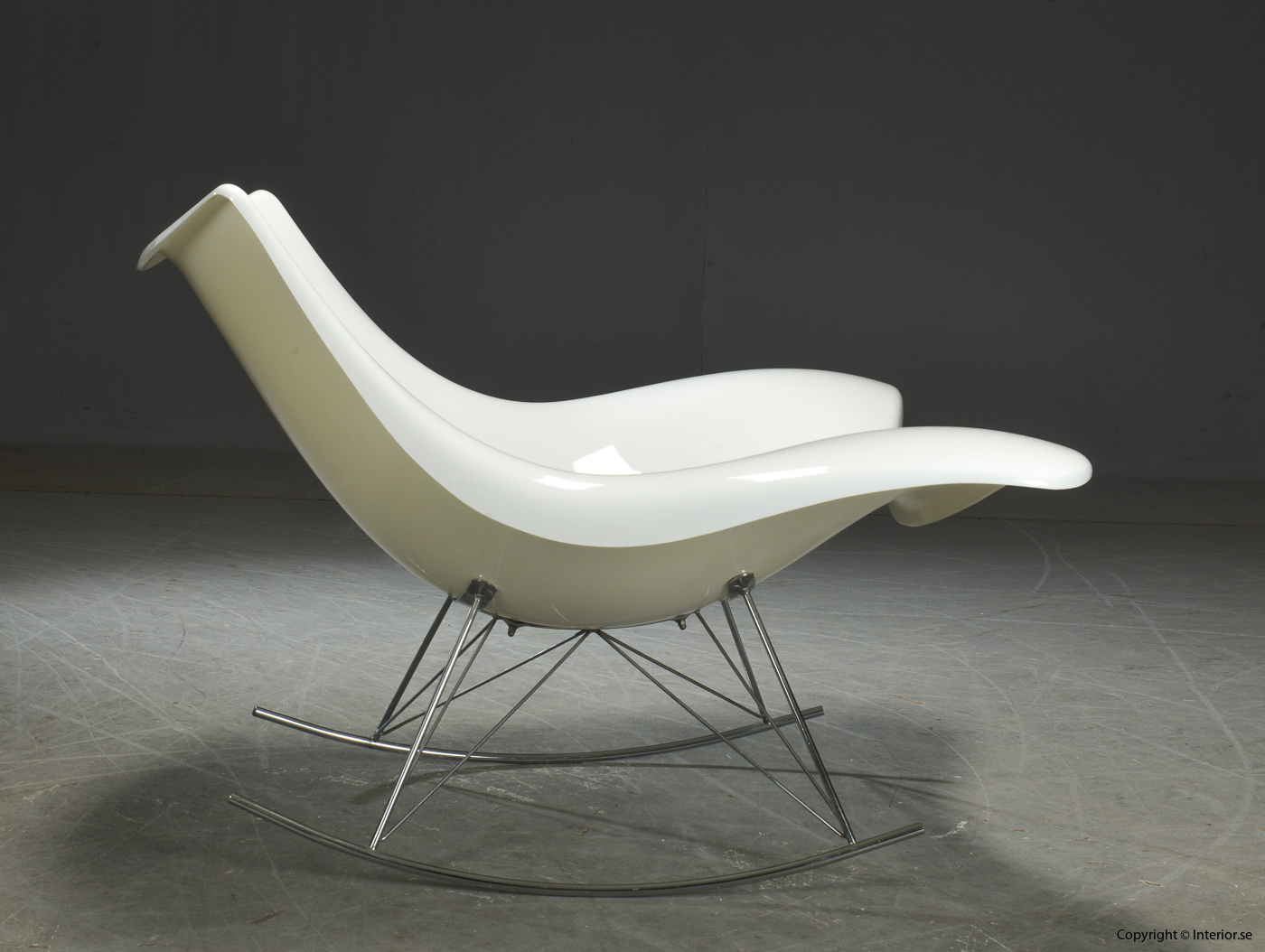 Gungstol rocking chair Schaukelstuhl, Vit Stingray Fredericia Furniture - Design Thomas Pedersen 4