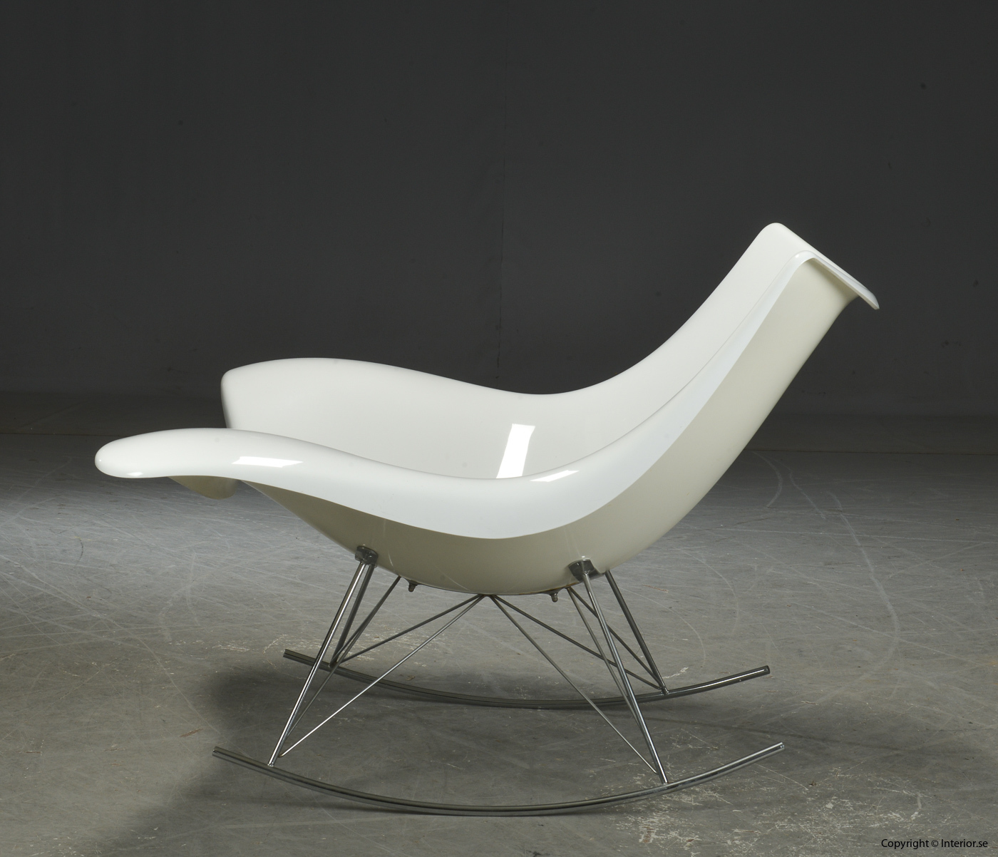 Gungstol rocking chair Schaukelstuhl, Vit Stingray Fredericia Furniture - Design Thomas Pedersen 3