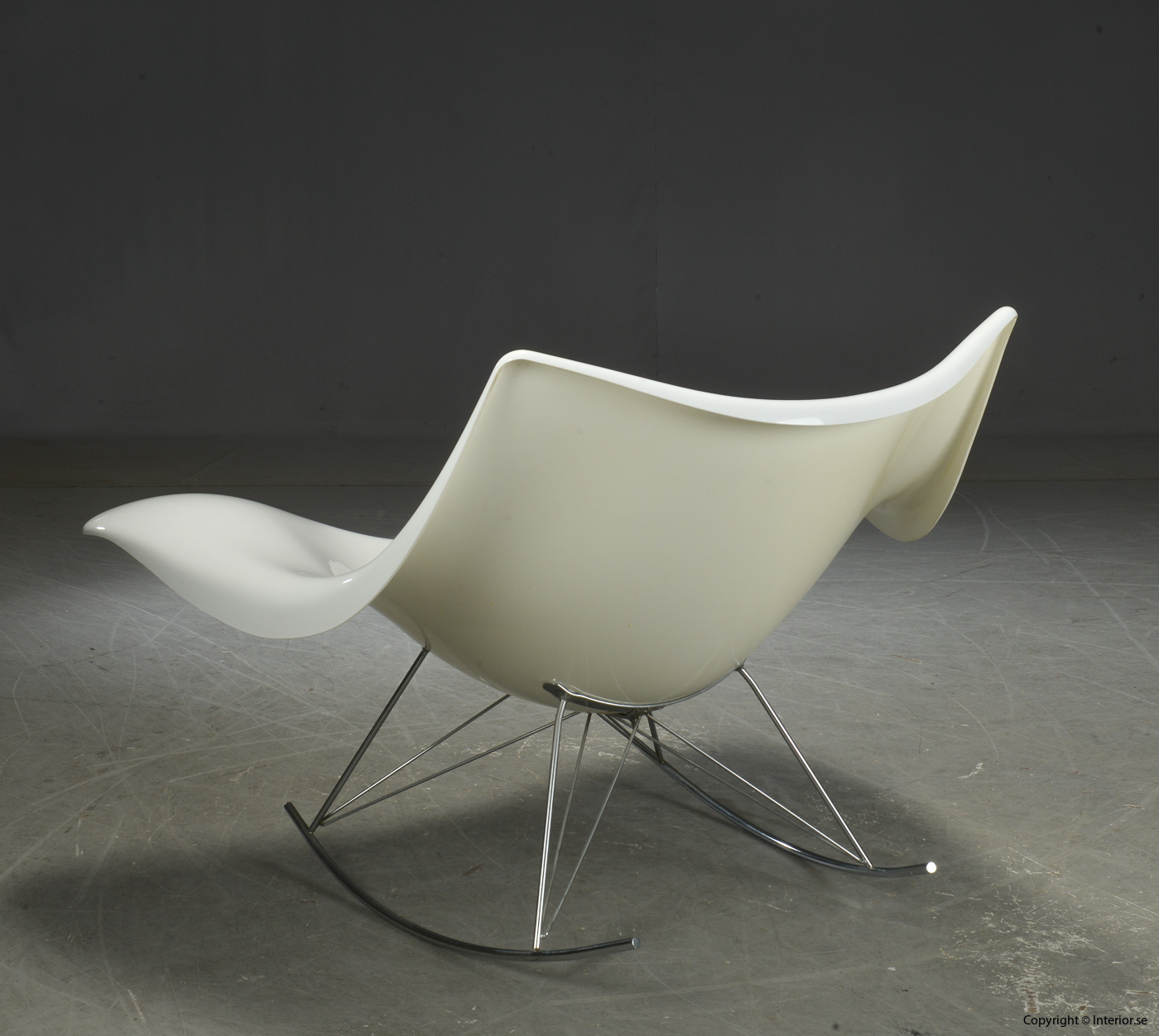 Gungstol rocking chair Schaukelstuhl, Vit Stingray Fredericia Furniture - Design Thomas Pedersen 5