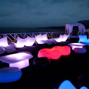 Vondom RGB LED Lava Bench | Karim Rashid