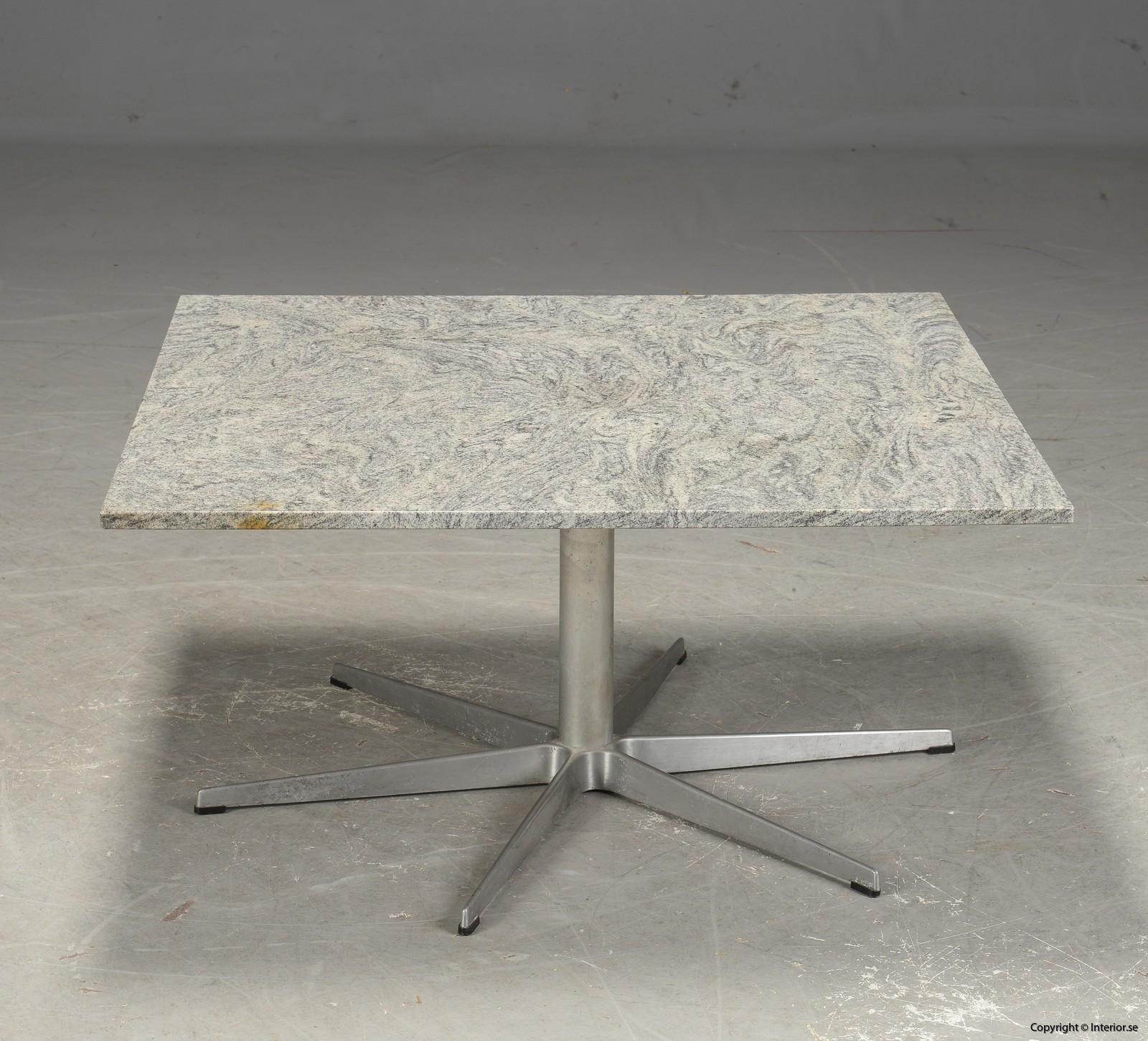 Vintage soffbord coffee table marble med marmor skiva - Arne Jacobsen