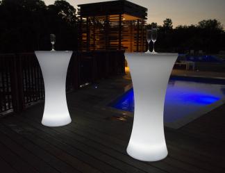 Hyra ståbord/barbord - RGB LED Uppladdningsbar