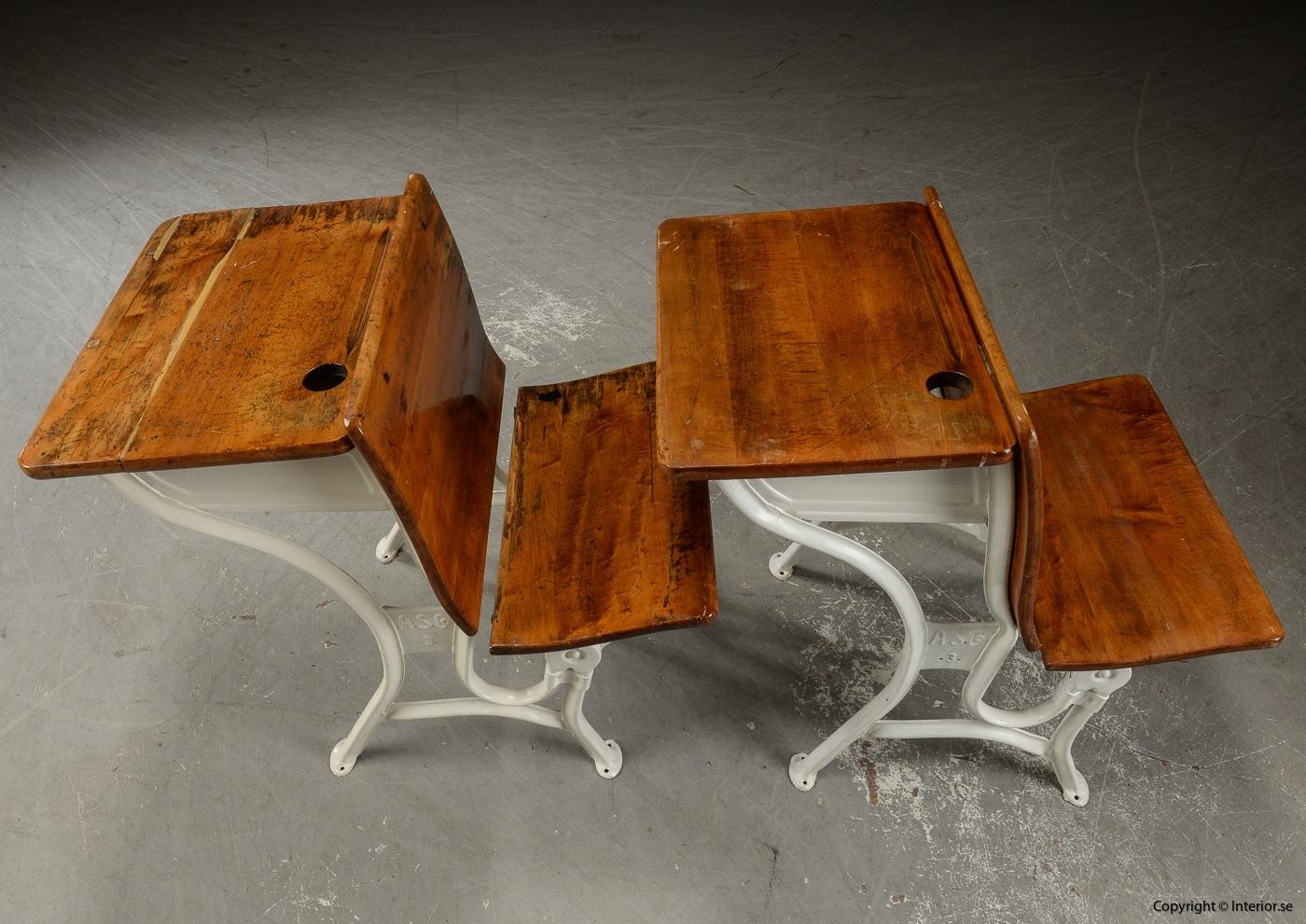 Antika skolbänkar Antique school benches - 1900 talets första hälft 2