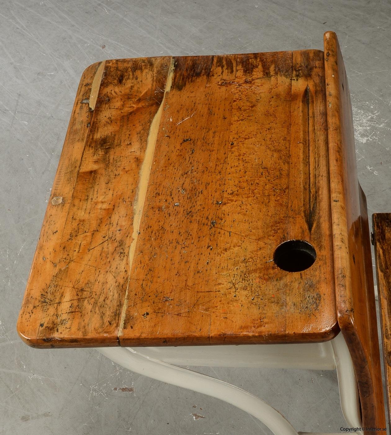 Antika skolbänkar Antique school benches - 1900 talets första hälft 4