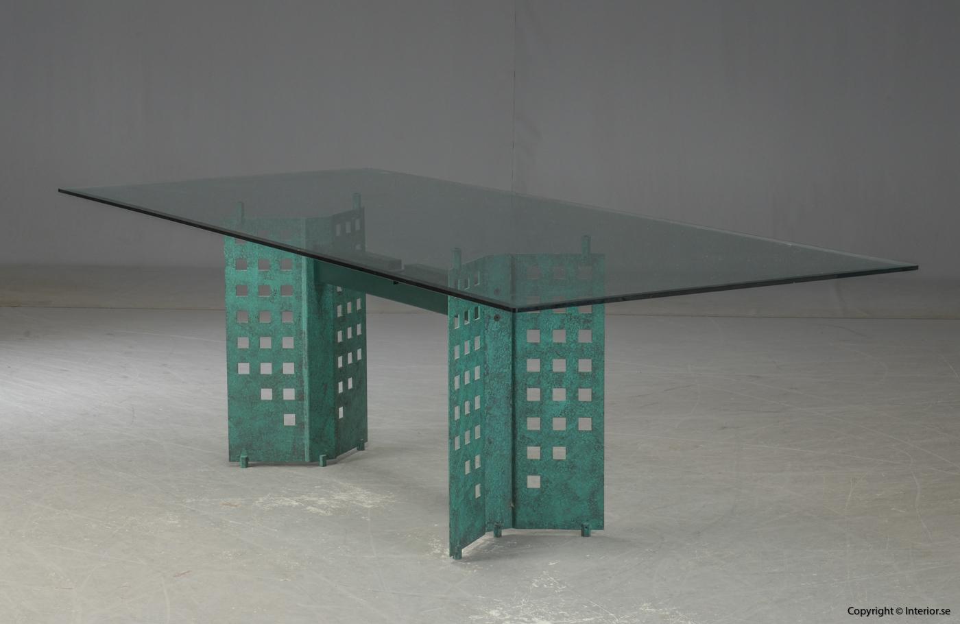 Konferensbord  Matbord, glassbord 240 cm  begagnade designmöbler stockholm