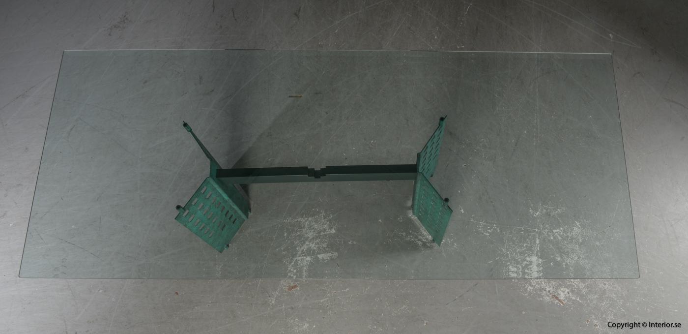 Konferensbord  Matbord, glassbord 240 cm  begagnade designmöbler stockholm 2