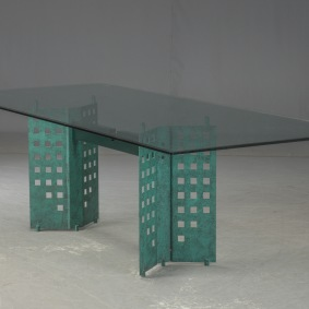 Bord med glasskiva - 240 x 100 cm
