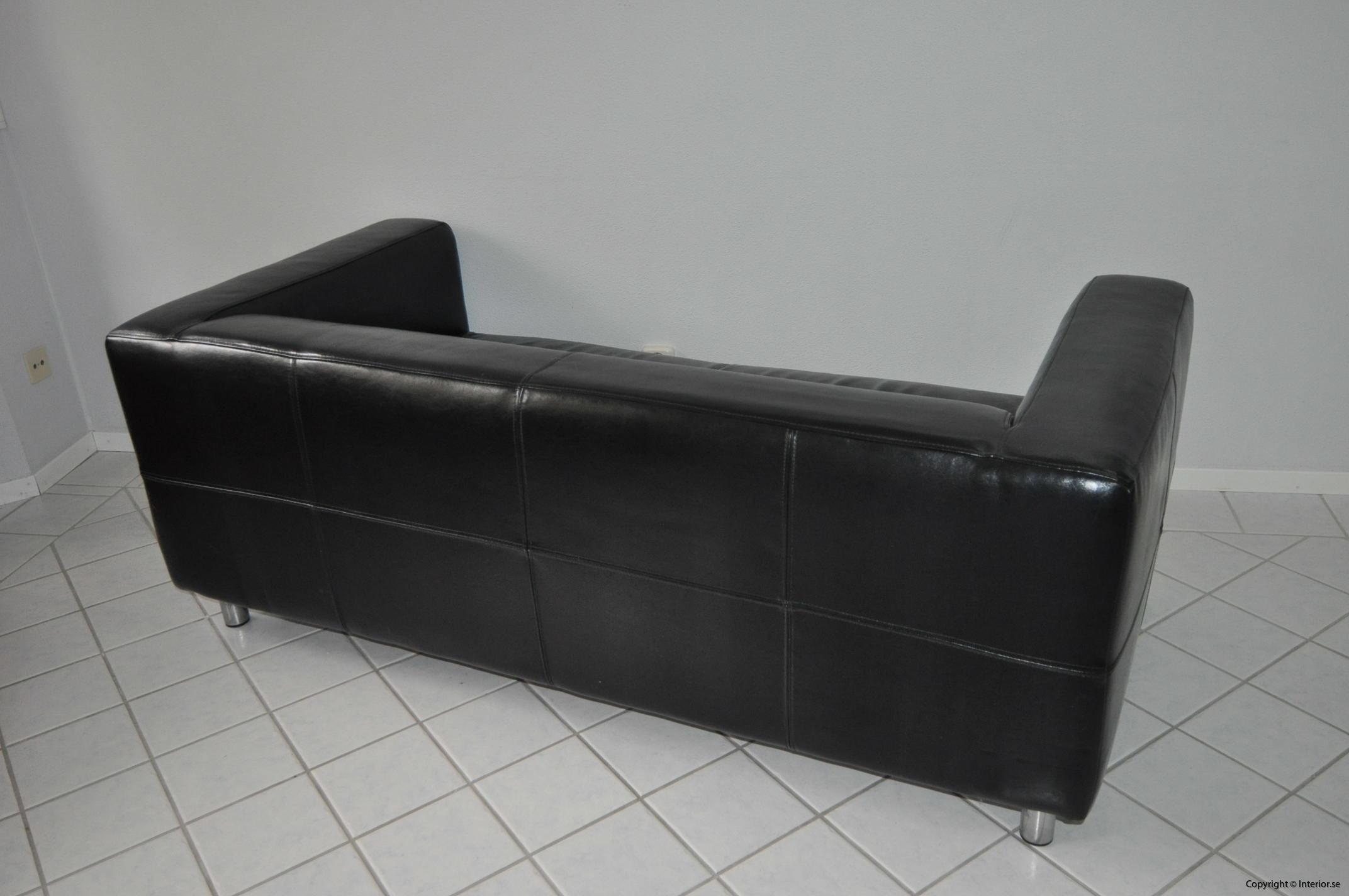 Soffa, IKEA Kramfors Svart skinn 2-sits (5)
