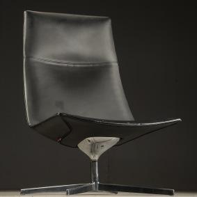 Loungefåtölj, Arper Catifa 70 - Skinn