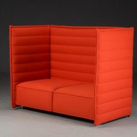 Soffa med hög rygg, Vitra Alcove - 2-sits