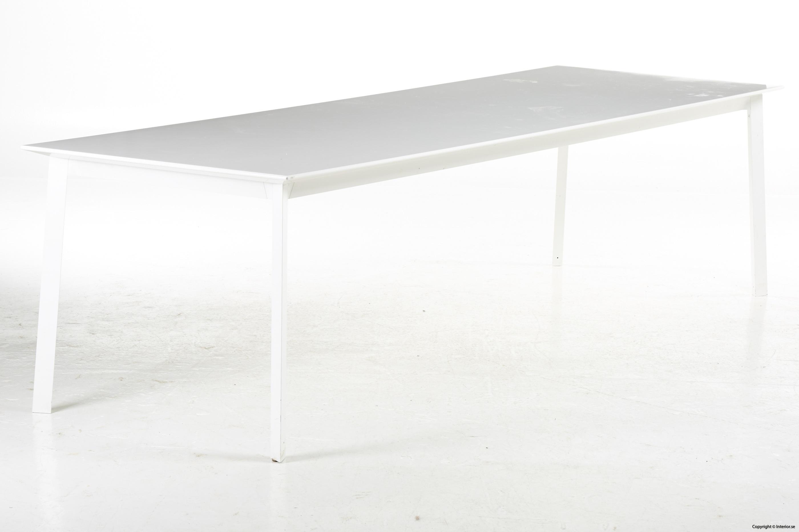 Konferensbord, vit laminat & stål - 280 x 90 cm conference table 6