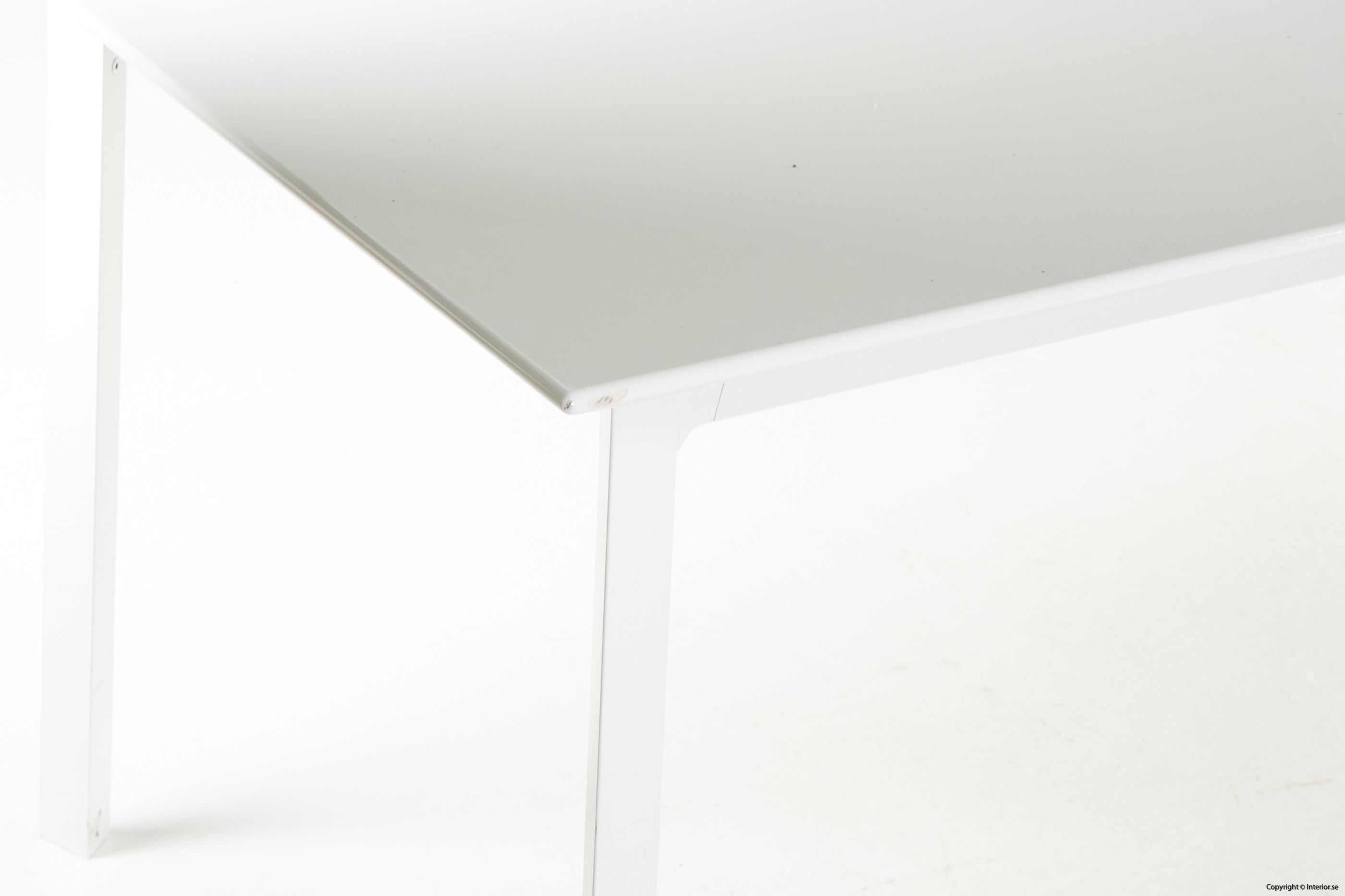 Konferensbord, vit laminat & stål - 280 x 90 cm conference table