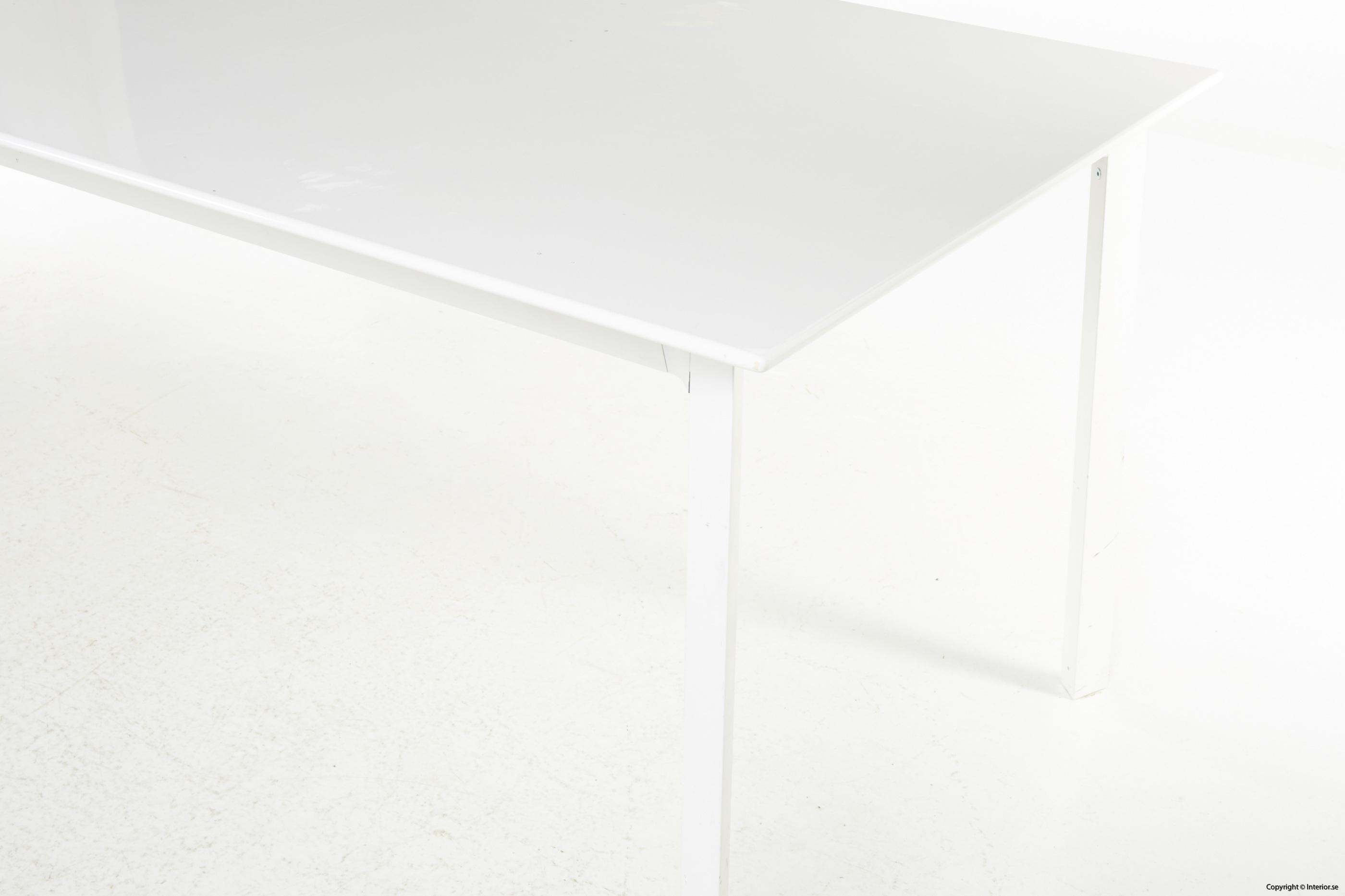 Konferensbord, vit laminat & stål - 280 x 90 cm conference table 3