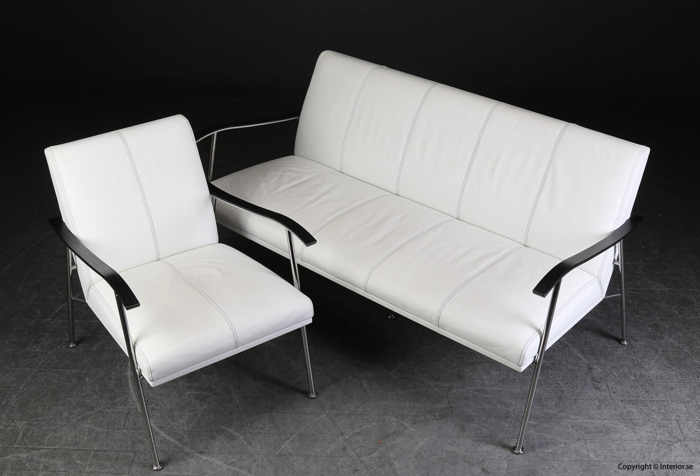 Soffgrupp armchair sofa, Lammhults Sahara i skinn - Gunilla Allard 2