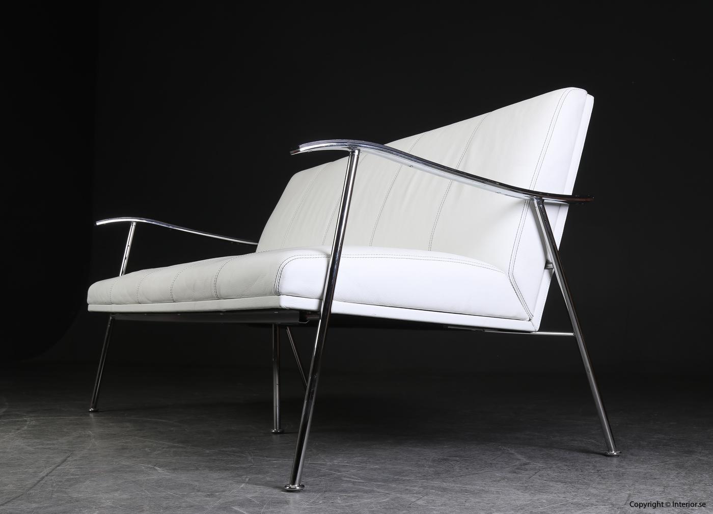 Soffgrupp armchair sofa, Lammhults Sahara i skinn - Gunilla Allard 6