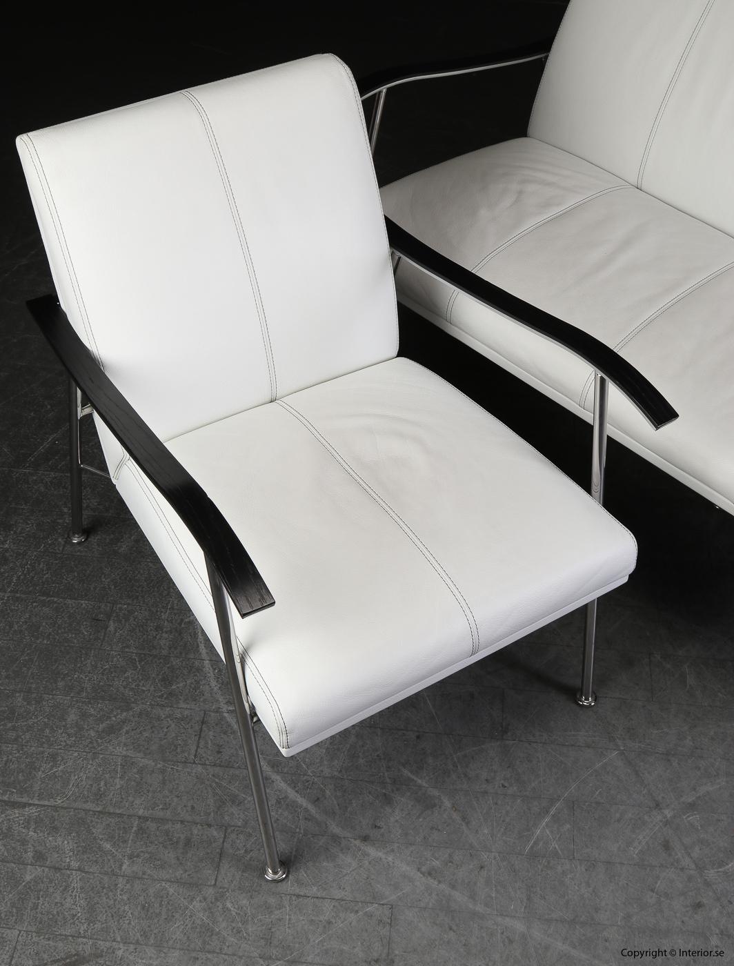 Soffgrupp armchair sofa, Lammhults Sahara i skinn - Gunilla Allard 3